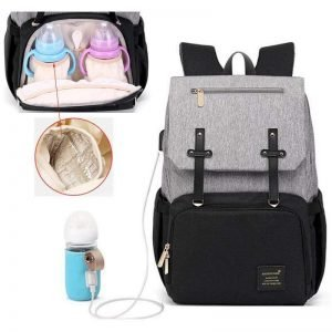 Diaper Bag with USB Charger & Bottle Warmer