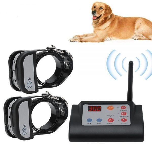 2 IN 1 Wireless Electric Dog Fence & Training invisible Containment System